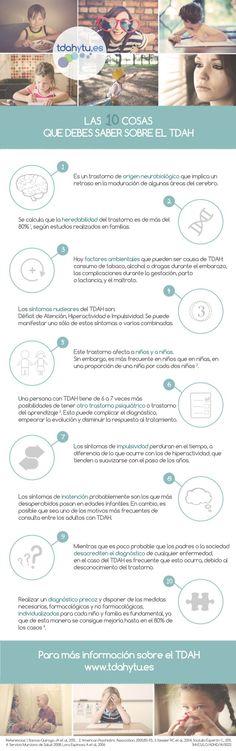 10 cosas sobre el trastorno de atención (TDAH) #infografia #inforgaphic #health