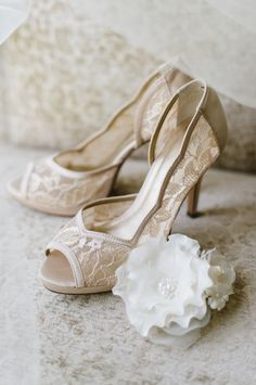 Pretty lace heels: http://www.stylemepretty.com/maryland-weddings/annapolis/2015/08/28/vintage-inspired-annapolis-wedding/   Photography: Natalie Franke - http://www.nataliefranke.com/