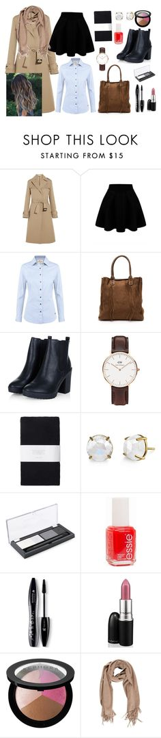 """"""""""" by luludedid on Polyvore featuring Jil Sander, DUBARRY, Daniel Wellington, Toast, Maybelline, Essie, Lancôme, MAC Cosmetics, Sephora Collection and women's clothing"""