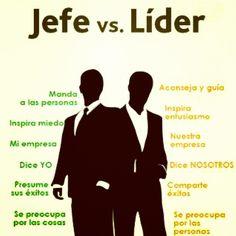 Inspira el liderazgo jefe vs líder #Infografía