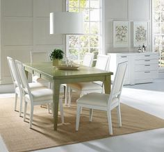 Charmant Pearl Green Leg Table Set Solid Wood Dining Set, Dining Sets, Dining Tables,