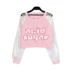 Harajuku Swag Pastel Clear Bomber Jacket for Womens ($20) ❤ liked on Polyvore featuring outerwear, jackets, pink bomber jackets, pastel jacket, pastel bomber jacket, bomber jackets and flight jackets