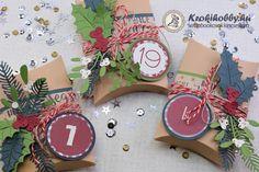 Adventi párnadobozkák - Sizzix 658268 Advent, Scrapbook, Scrapbooks, Scrapbooking, Guest Books
