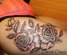 Publicación de Instagram de Carlo Conci • 24 de Nov de 2017 a las 2:16  UTC Tattoos, Instagram Posts, Flowers, Thighs, Tatuajes, Tattoo, Royal Icing Flowers, Flower, Florals