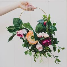 This floral hoop is a gorgeous alternative bouquet for your bridesmaids or will look picture perfect hanging from the wall as a backdrop. What You'll Need: • S
