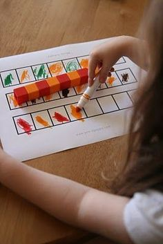 Patterning activity using unifix cubes. Pattern activities for preschool, pre-k…