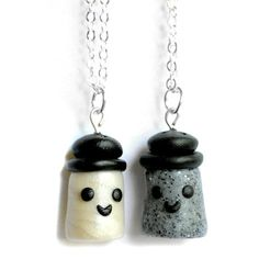 I liked this design on #Fab. Salt & Pepper BFF Necklaces