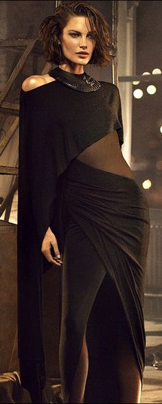 Donna Karan, 2013. - I don't understand this but it's sexy in a kind of asymmetrical, quirky, 70's kinda way.