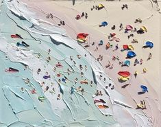 """goldhue: """"yaaaayyy: """" The Beach, Sally West, oil on canvas, 2015 """" This is probably one of the most clever pieces of art I have seen ever, and it's only an arrangement of swishes and blobs yet. Art Inspo, Painting Inspiration, Art And Illustration, Illustrations, Abstract Canvas, Oil On Canvas, Sally West, Art Plage, Paintings Tumblr"""