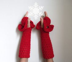 Fingerless Winter Gloves by giZZdesign fashion under by giZZdesign, $20.00
