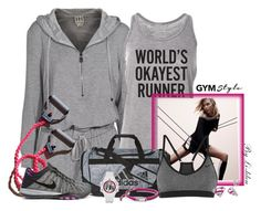 """""""~Gym Style~"""" by li-lilou ❤ liked on Polyvore featuring Haute Hippie, adidas, NIKE, FOSSIL and DC Comics"""