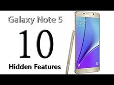 10 Hidden Features of the Galaxy Note 5 You Don't Know About - YouTube