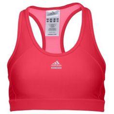 adidas TechFit Sports Bra - Women's - Training - Clothing - Bright Pink/Ultra Pink/Matte Silver