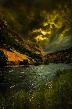 The Colorado River at sunset by Michael Holstine
