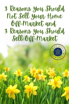 There are more reasons that you should sell your house on the market than off and trying to come up with reasons to sell your house off the market was a task. It was difficult because most of the time it's a bad idea. Home Selling Tips, Selling Your House, Lots Of Money, Real Estate Investor, Investors, Good Times, Advice, How To Apply, Marketing