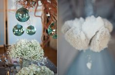 winter wedding ideas babys breath reception centerpieces