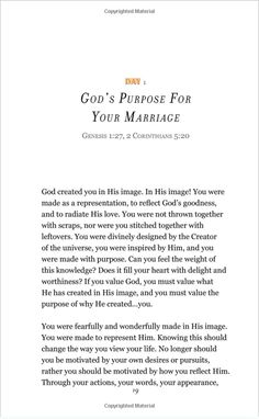 OTHER PURCHASE OPTIONS: Amazon Paperback | Kindle | iBooks | Nook About Wife After God 30 Day Marriage Devotional I wrote this marriage devotional to walk you through an intense journey of experiencin