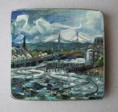 The river Tyne at Tynemouth. Oil on board.  P.M.23/06/2008