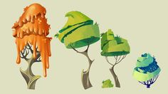 sketches and elements of the game on Behance