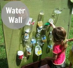 let the children play: a water wall for water play