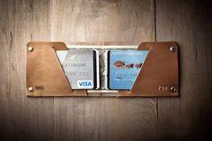 Г-н Ленц Минимальная кожаный бумажник 1