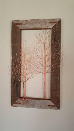 Hey, I found these really awesome copper wire birch trees. Metal art. Wire art. Etsy listing at https://www.etsy.com/listing/610626459/copper-wire-birch-trees-wire-art-metal