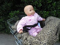 Cheetah print   baby shopping cart cover/ high by littlestitches59, $40.00
