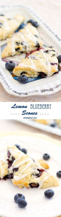 Lemon Blueberry Scones: These scones are a great brunch appetizer!
