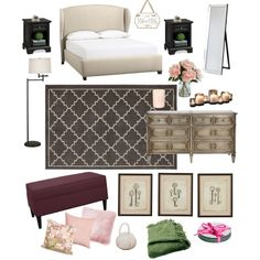 Dream bedroom by nataly-blowe on Polyvore featuring polyvore, interior, interiors, interior design, home, home decor, interior decorating, Pottery Barn, Woven Workz, H&M, Ethan Allen, JAG Zoeppritz, Tory Burch, Danya B, CB2, Dot & Bo, bedroom, pretty, Home and homedecor