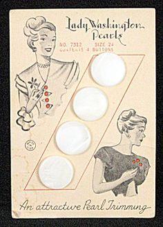 pearl button card