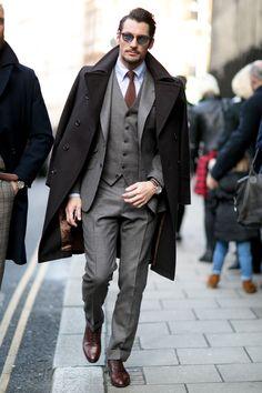 Street fashion: tydzień mody męskiej w Londynie jesień-zima 2015/2016, fot. Imaxtree
