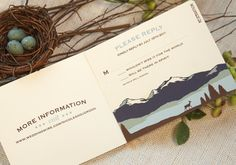 Craftsman Mountain Wedding Livret Invitation by nestingprojectwed, $60.00
