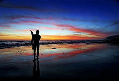 Bronco Surfer Sunset