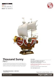 PaperToy - One Peace - Thousand Sunny Part 02 001