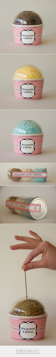 Yarn Packaging on Behance by Trista Jarvis curated by Packaging Diva PD. Simple fun Peaches and Creme yarn packaging.