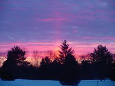 Gaylord Michigan Winter Sunrise