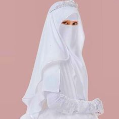 Hijabi Wedding, Wedding Hijab Styles, Muslimah Wedding Dress, Hijab Wedding Dresses, Wedding Dress With Veil, Bridal Hijab, Hijab Bride, Hijabi Girl, Girl Hijab