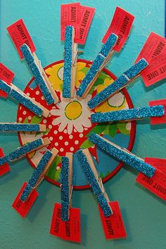 Embroidery Hoop Reward Wheel (Chore Chart) by Naughty Secretary Club, via Flickr