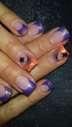 Are you looking for easy Halloween nail art designs for October for Halloween party? See our collection full of easy Halloween nail art designs ideas and get inspired! Holiday Nail Designs, Holiday Nail Art, Halloween Nail Designs, Halloween Nail Art, Easy Halloween, Halloween Party, Get Nails, Love Nails, Pretty Nails