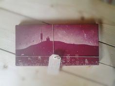 Barcelona: Pintura con spray del Skylane de Barcelona sobre materiales encontrados en la ciudad. (baldosa cerámica). @sferrerdalmau #pintura #barcelona #reciclaje Barcelona, Diy, Recycling, City, Objects, Hand Made, Pintura, Manualidades, Bricolage
