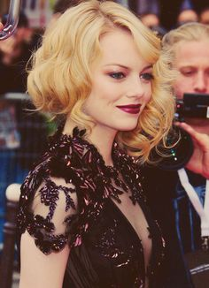 Emma Stone's dress and hair and makeup and... and.. *sighs* perfection!