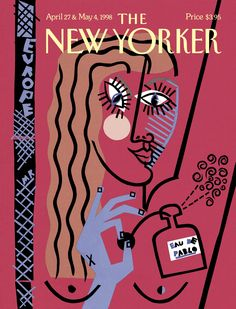 """The New Yorker - Monday, April 27, 1998 - Issue # 3796 - Vol. 74 - N° 10 - « Special Europe Issue » - Cover """"Eu de Pablo"""" by Michael Roberts"""