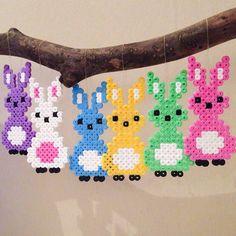Easter bunnies hama beads by jifode