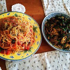 トマトパスタ & すき焼き仕立ての和風スパゲッティ