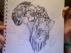 Africa tattoo sketch by dkbg on deviantART. .... Great activity for teaching continents or states, etc