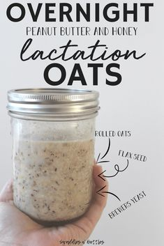 A sweet snack to help boost your milk supply. This recipe contains 3 key ingredients known to help increase your breast milk production quickly! Oats Recipes, Baby Food Recipes, Food Baby, Baby Foods, Peanut Recipes, Recipes Dinner, Brunch Recipes, Free Recipes, Breastfeeding Snacks
