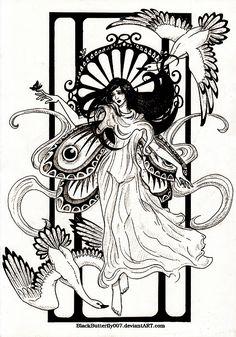 86 Best Art Nouveau Coloring Pages For Adults Images On Pinterest