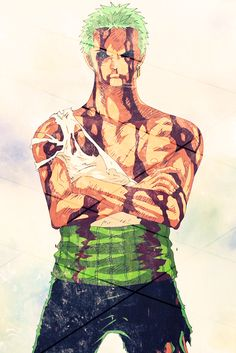 Some Fell In love with Zoro on site cause he's hot.  Some Fell in love with Zoro upon seeing his sword skills and power.  I fell in love with Zoro when he gave up himself to the brink of death.. all so Luffy didn't have to feel one ounce of pain.  My Zoro is amazing :) <3