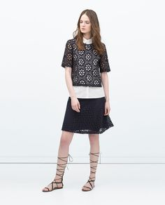 Image 1 of A-LINE SKIRT from Zara