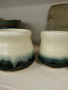 Black gloss over matt white. White Clay, White White, Pottery, Park, Home Decor, Ceramica, Decoration Home, Room Decor, Pottery Marks